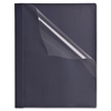 "Sparco Clear Front Report Cover - Letter - 8 1/2"" x 11"" Sheet Size - 100 Sheet Capacity - 3 Fastener(s) - Dark Blue, Clear - 25 / Box"