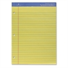 "Sparco Premium Grade 3HP Legal Ruled Pads - 50 Sheets - Printed - Wire Bound - Both Side Ruling Surface - 16 lb Basis Weight - 8.50"" x 11.75"" - Canary Paper - 1Each"