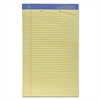 "Sparco 2-Hole Punched Legal Ruled Pads - 50 Sheets - Printed - Wire Bound - Both Side Ruling Surface - 16 lb Basis Weight - Legal 8.50"" x 14"" - Canary Paper - 1Each"