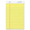 "Sparco Junior Legal-Ruled Canary Writing Pads - 50 Sheets - Printed - Glue - 16 lb Basis Weight - Jr.Legal 5"" x 8"" - Canary Paper - 1Dozen"