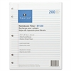 "Sparco 5-hole Punched Wide Ruled Filler Paper - 200 Sheets - Printed - 16 lb Basis Weight - 8"" x 10.50"" - White Paper - 200 / Pack"