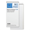 "Sparco Reporter's Notebook - 70 Sheets - Printed - Spiral - 4"" x 8"" - White Paper - Chipboard Cover - 12 / Pack"
