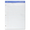 "Sparco 3-Hole Punch Legal/Wide Ruled Pads - 50 Sheets - Wire Bound - Both Side Ruling Surface - 0.34"" Front Line(s) Space - 16 lb Basis Weight - 8.50"" x 11.75"" - White Paper - Perforated, Grade, Bond"