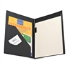 "Sparco Economy Pad Holder - Letter - 8 1/2"" x 11"" Sheet Size - Vinyl - Black - 1 Each"