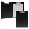 "Pad Holder with Clip - Letter - 8 1/2"" x 11"" Sheet Size - Vinyl - Black - 1 Each"