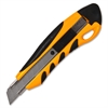 Sparco PVC Anti-Slip Rubber Grip Utility Knife - Stainless Steel Blade - Yellow
