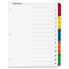 Sparco Color Coded Indexing System - 15 Blank Tab(s) - 15 Tab(s)/Set - 3 Hole Punched - White Divider - Multicolor Tab(s) - 15 / Set