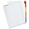 "Sparco Jan-Dec Quick Index Dividers - 12 Printed Tab(s) - Month - January-December - 12 Tab(s)/Set - 8.5"" Divider Width x 11"" Divider Length - Letter - 3 Hole Punched - White Divider - Assorted Tab(s)"
