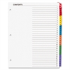 Sparco Color Coded Indexing System - 31 Printed Tab(s) - Digit - 1-31 - 31 Tab(s)/Set - 3 Hole Punched - White Divider - Multicolor Tab(s) - 31 / Set