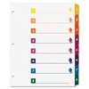 Sparco Table of Contents Index Dividers - 8 x Divider(s) - Printed Tab(s) - Digit - 1-8 - 8 Tab(s)/Set - 3 Hole Punched - White Divider - Multicolor Tab(s) - 24 / Box