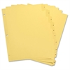 """Clear Plastic Numbered Tab Indexes - 10 Printed Tab(s) - Digit - 1-10 - 8.50"""" Divider Width x 11"""" Divider Length - Letter - 3 Hole Punched - Buff Paper Divider - Buff Plastic Tab(s) - 10 / Set"""