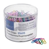 Sparco Vinyl-Coated Gem Clips - No. 1 - 500 / Box - Assorted - Vinyl