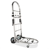 """Portable Platform Luggage Cart - 200 lb Capacity - 4 Casters - 6"""", 1.75"""" Caster Size - Steel - 14.5"""" Width x 26"""" Depth x 38.3"""" Height - Chrome"""