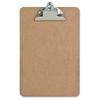 "Sparco Hardboard Clipboards - 6"" x 9"" - Hardboard - Brown"