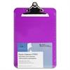 "Sparco Plastic Clipboards - 9"" x 12.50"" - Spring Clip - Plastic - Violet"