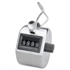 Sparco Hand Tally Counter - 4 Digit - Finger Ring - Handheld - Nickel Plated - Silver