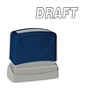 "Pre-Inked Stamp - Message Stamp - ""DRAFT"" - 1.75"" Impression Width x 0.62"" Impression Length - Black - 1 Each"