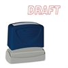 "Self-Inking Stamp - Message Stamp - ""DRAFT"" - 1.75"" Impression Width x 0.62"" Impression Length - Red - 1 Each"