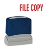 "Sparco Pre-Inked Stamp - Message Stamp - ""FILE COPY"" - 1.75"" Impression Width x 0.62"" Impression Length - Red - 1 Each"