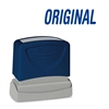 "Pre-Inked Stamp - Message Stamp - ""ORIGINAL"" - 1.75"" Impression Width x 0.62"" Impression Length - Blue - 1 Each"