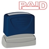 "Sparco PAID Red Title Stamp - Message Stamp - ""PAID"" - 1.75"" Impression Width x 0.62"" Impression Length - Red - 1 Each"