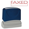 "Pre-Inked Stamp - Message Stamp - ""FAXED"" - 1.75"" Impression Width x 0.62"" Impression Length - Red - 1 Each"