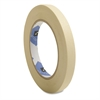 "Utility Purpose Masking Tape - 0.50"" Width x 60 yd Length - 3"" Core - Crepe Paper Backing - 1 / Roll - Tan"