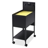 "Lorell Standard Mobile File - 4 Casters - 13.5"" Width x 24.8"" Depth x 28.3"" Height - Black"