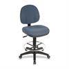 "Lorell Pneumatic Adjustable Multi-task Stool - Blue Seat - Blue - 24"" Width x 24"" Depth x 50.5"" Height"