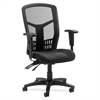 "Lorell 86000 Series Executive Mesh Back Chair - Mesh Fabric Black Seat - Black Frame - 5-star Base - Black - 21"" Seat Width x 19.50"" Seat Depth - 28.5"" Width x 28.5"" Depth x 45"" Height"