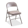 "Lorell Steel Folding Chair - Vinyl Beige Seat - Steel Beige Frame - 19.4"" Width x 18.3"" Depth x 29.6"" Height"