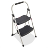 "Werner Two Step Stool - 2 Step - 225 lb Load Capacity - 20.8"" x 18.5"" x 34.1"" - Silver, Black"