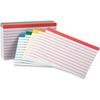 "Oxford Color Coded Bar Ruling Index Cards - 100 Sheets - Front Ruling Surface - Index Card 3"" x 5"" - Acid-free - 100 / Pack"