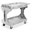 "Akro-Mils ProCart Utility Cart - 400 lb Capacity - Plastic Foam - 45"" Width x 24"" Depth x 35"" Height - Gray"