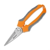 Westcott Elite Stainless Steel Snips - Orange - Plastic, Stainless Steel - Cushion Grip, Ergonomic Handle, Corrosion Resistant, Comfortable Grip, Slip Resistant - 1 Each