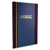 "S300 Single Entry Ledger Book - 150 Sheet(s) - 11.75"" x 7.25"" Sheet Size - White Sheet(s) - Blue Cover - 1 Each"