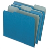 "Pendaflex Earthwise 2-tone 1/3 Cut File Folders - Letter - 8 1/2"" x 11"" Sheet Size - 1/2"" Expansion - 1/3 Tab Cut - Assorted Position Tab Location - 11 pt. Folder Thickness - Blue - 100 / Box"