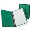 "Report Cover with Reinforced Side Hinge - Letter - 8 1/2"" x 11"" Sheet Size - Prong Fastener - 3"" Fastener Capacity for Folder - Pressguard - Dark Green - 1 Each"