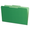 "Pendaflex Legal Size Interior File Folders - Legal - 8 1/2"" x 14"" Sheet Size - 1/3 Tab Cut - Green - 100 / Box"