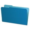 "Interior File Folder - Legal - 8 1/2"" x 14"" Sheet Size - 1/3 Tab Cut - Blue - 100 / Box"