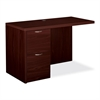 "HON Valido 11500 Series Left Return - 48"" x 24"" x 29.5"" - 2 x File Drawer(s) - Single Pedestal on Left Side - Ribbon Edge - Material: Particleboard, Wood - Finish: Laminate, Mahogany"