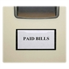 "Magnetic Label Holder - 2.5"" x 4.4"" - Vinyl - 10 / Pack - White"