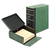 "Globe-Weis Eclipse File Boxes - External Dimensions: 10.8"" Width x 11.6"" Depth x 4.6""Height - Media Size Supported: Letter - Fiberboard - Green - For File - 1 Each"