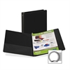 "Samsill Suede Embossed Value Ring Binder - 1/2"" Binder Capacity - Letter - 8 1/2"" x 11"" Sheet Size - 3 x Round Ring Fastener(s) - Inside Front & Back Pocket(s) - Vinyl - Black - Recycled - 1 Each"