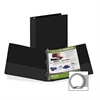 "Samsill Suede Embossed Value Ring Binder - 1 1/2"" Binder Capacity - Letter - 8 1/2"" x 11"" Sheet Size - 3 x Round Ring Fastener(s) - Inside Front & Back Pocket(s) - Vinyl - Black - Recycled - 1 Each"