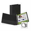 "Samsill Angle-D Ring Binders - 1"" Binder Capacity - Letter - 8 1/2"" x 11"" Sheet Size - 3 x D-Ring Fastener(s) - Inside Front Pocket(s) - Black - Recycled - 1 Each"