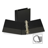 "Samsill Angle-D Ring Binders - 2"" Binder Capacity - Letter - 8 1/2"" x 11"" Sheet Size - 3 x D-Ring Fastener(s) - Inside Front Pocket(s) - Black - 1.92 lb - Recycled - 1 Each"