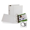 "Samsill Insertable D-Ring Binders - 5"" Binder Capacity - Letter - 8 1/2"" x 11"" Sheet Size - 3 x D-Ring Fastener(s) - Inside Front Pocket(s) - White - 2.83 lb - Recycled - 1 Each"