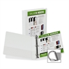 "Samsill Insertable D-Ring Binders - 1"" Binder Capacity - Letter - 8 1/2"" x 11"" Sheet Size - 3 x D-Ring Fastener(s) - White - Recycled - 1 Each"
