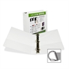 "Samsill Insertable D-Ring Binders - 1 1/2"" Binder Capacity - Letter - 8 1/2"" x 11"" Sheet Size - 3 x D-Ring Fastener(s) - White - Recycled - 1 Each"